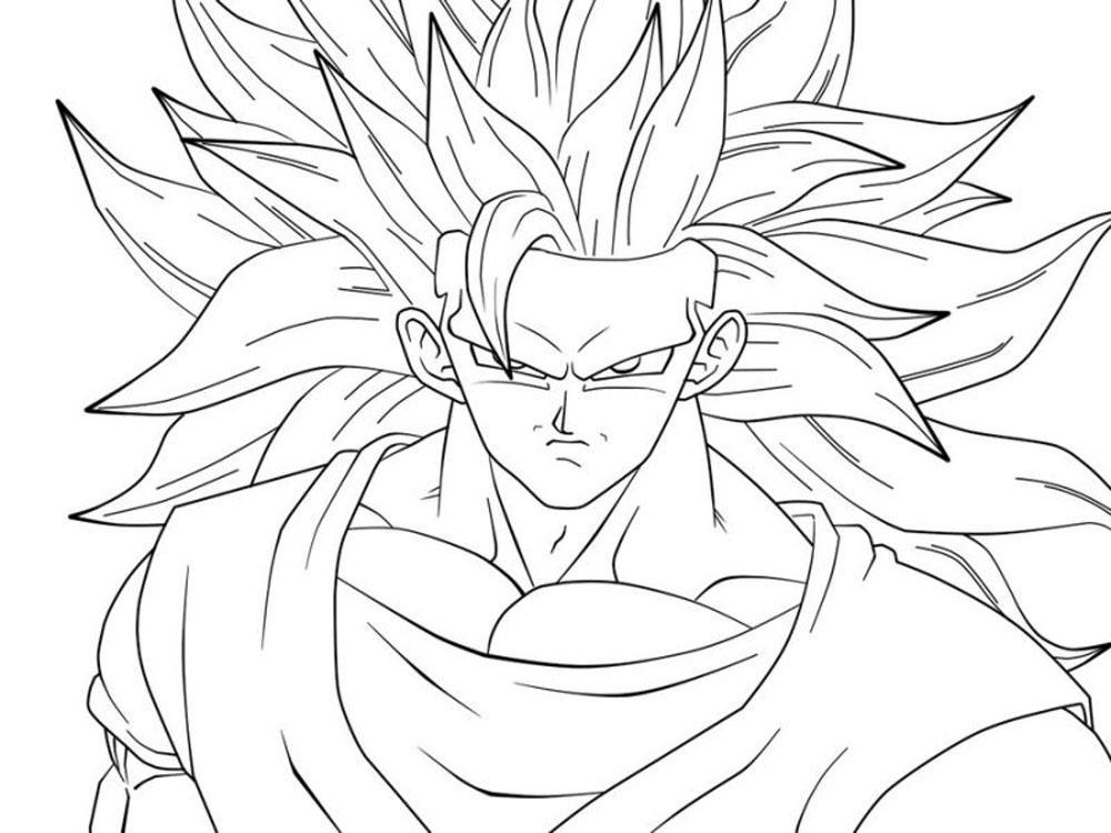 Imagenes de Goku kakariti fase 3 para imprimir y recortar - Dibujos De