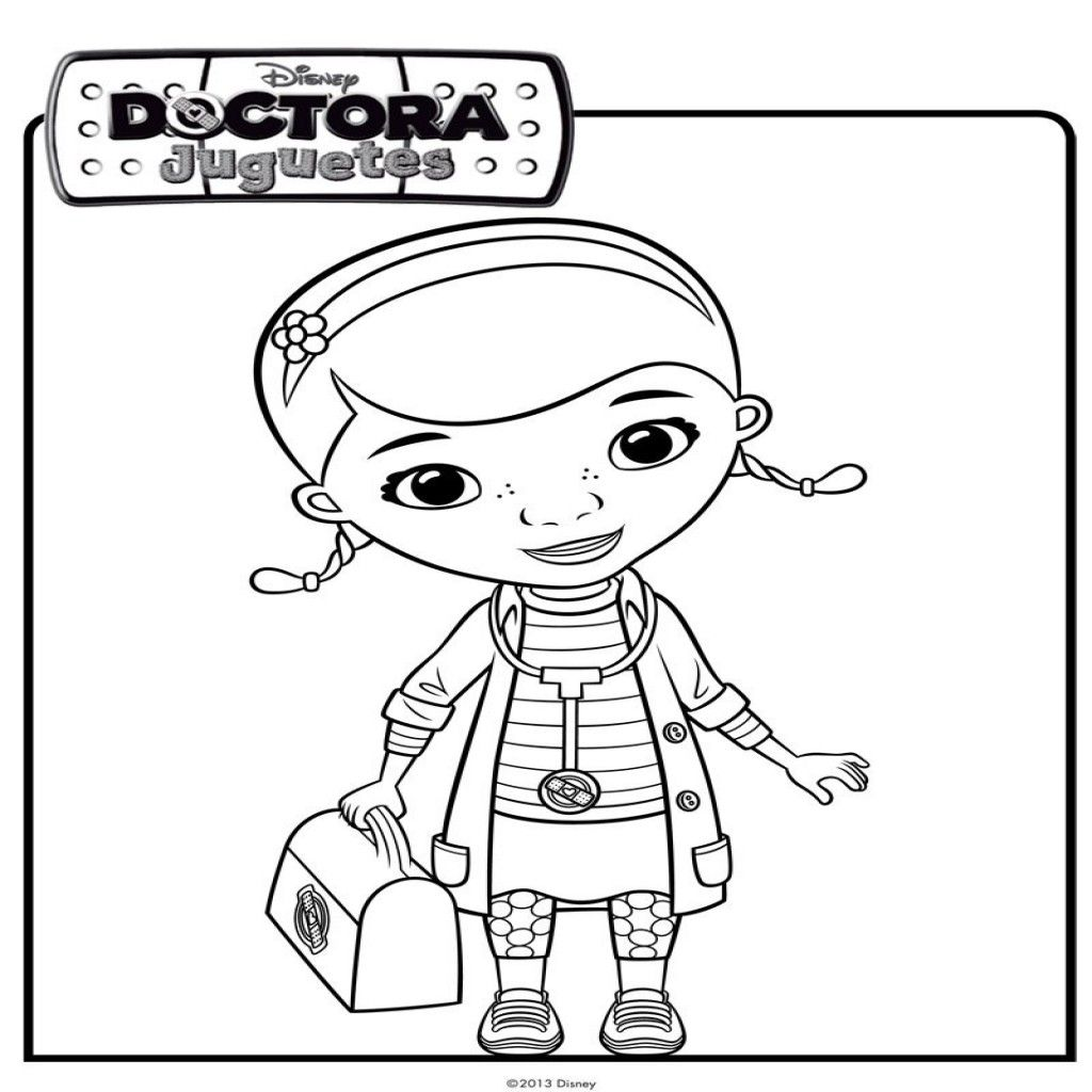 Dibujo De La Doctora Juguetes Dibujos De Disney Para Colorear