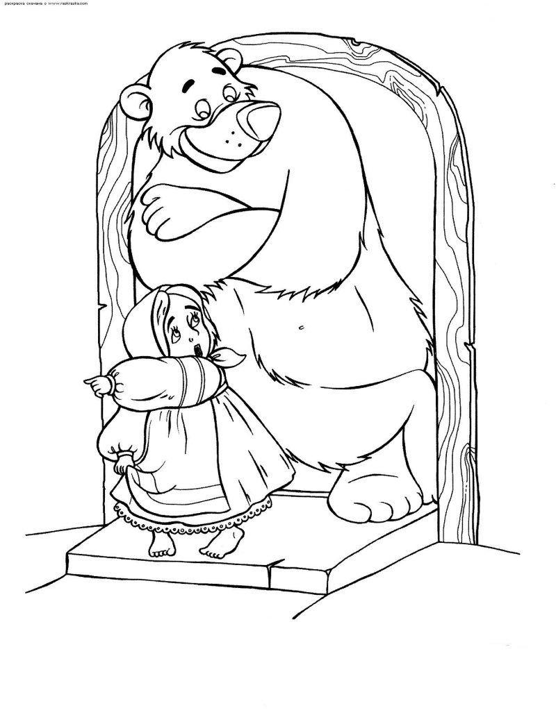 dibujos-de-masha-y-el-oso-para-colorear - Dibujos De