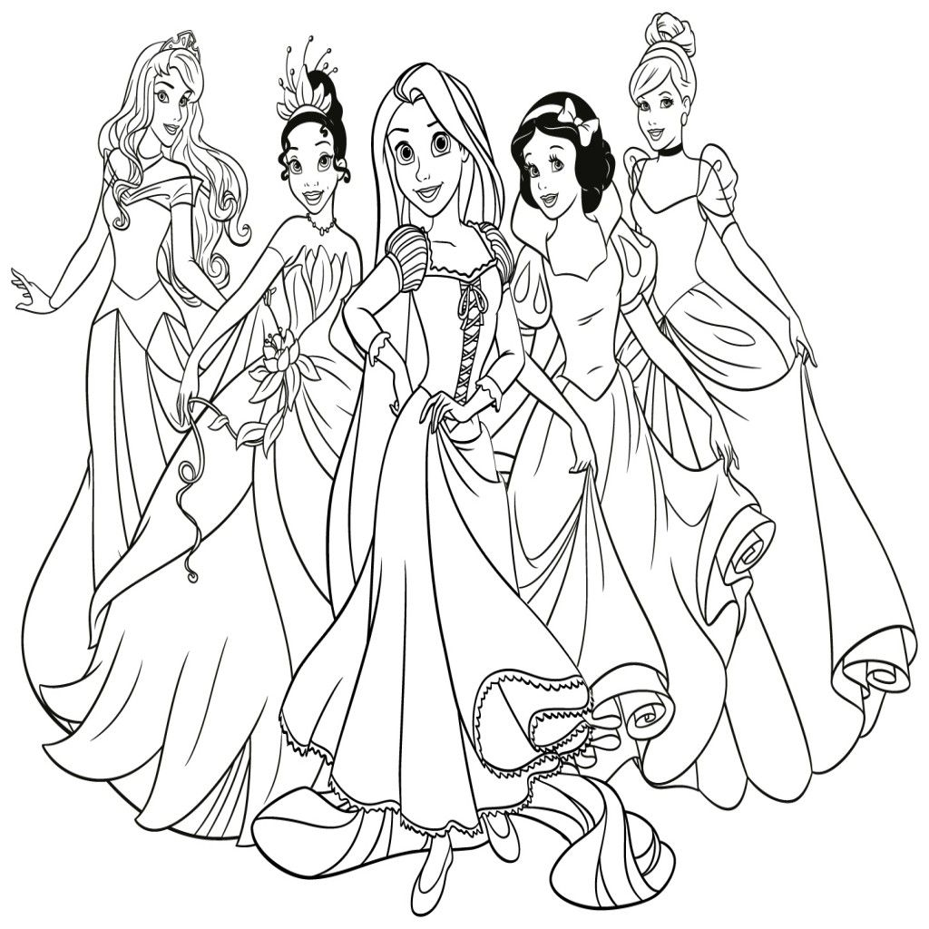 dibujos de princesas disney para colorear e imprimir gratis - Dibujos De