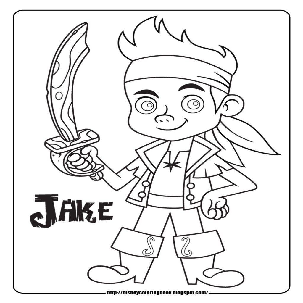 dibujos para colorear disney junior jake y los piratas i - Dibujos De