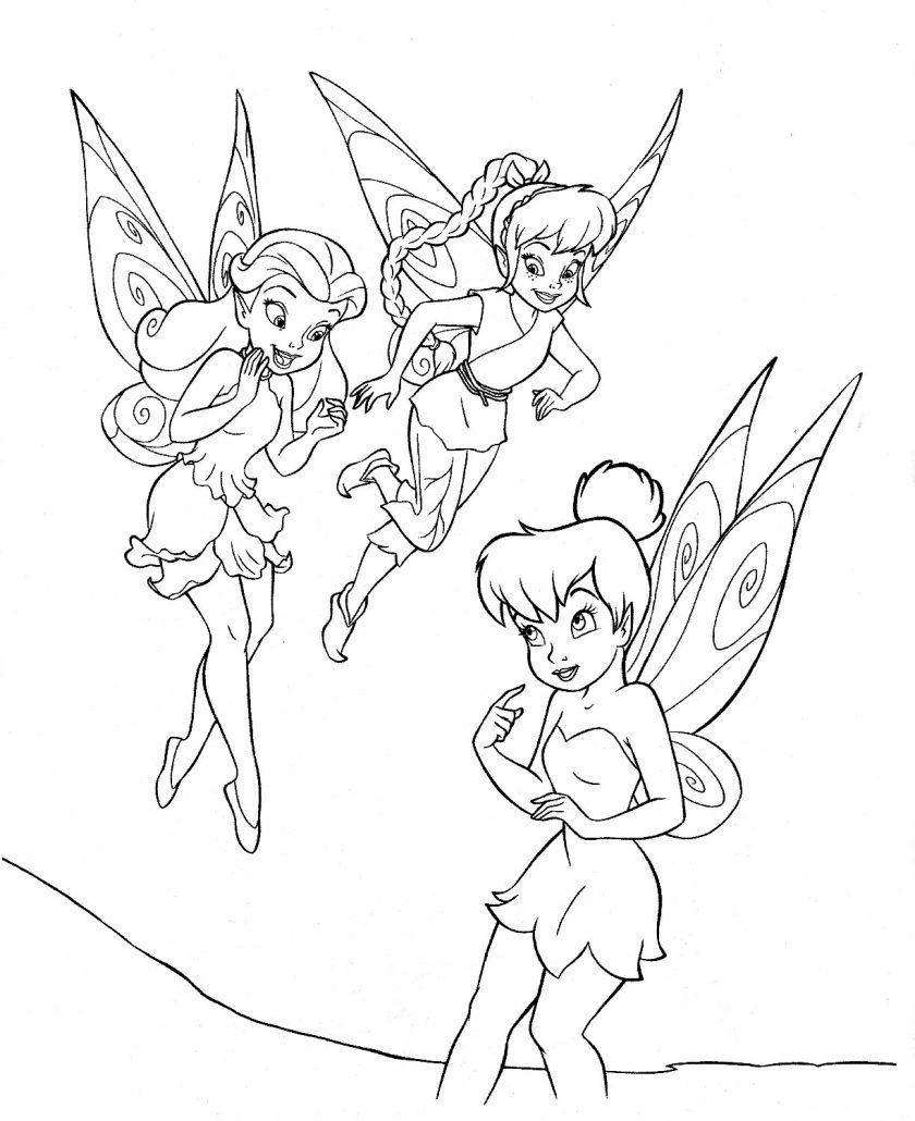 Dibujos Para Colorear Hadas Disney Campanilla Campanita