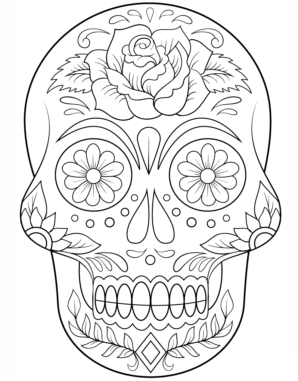 Calaveras Mexicanas Para Colorear Dibujos De