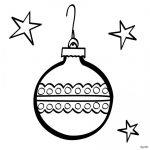 adorno de esfera de Navideno para colorear dibujar recortar y adornar