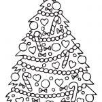 arbol de navideno con adornos para colorear dibujar recortar y adornar