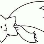 estrella de Navideno para colorear dibujar recortar y adornar