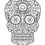 Imagen para dibujar colorear y adornar de las calaveras mexicanas