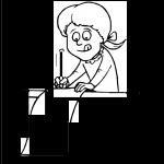 Imagen de Niña escribiendo carta a santa claus