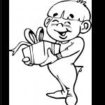 Imagen de Niño recibiendo regalo de navidad