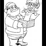 Imagen de Santa Claus con regalo de Navidad