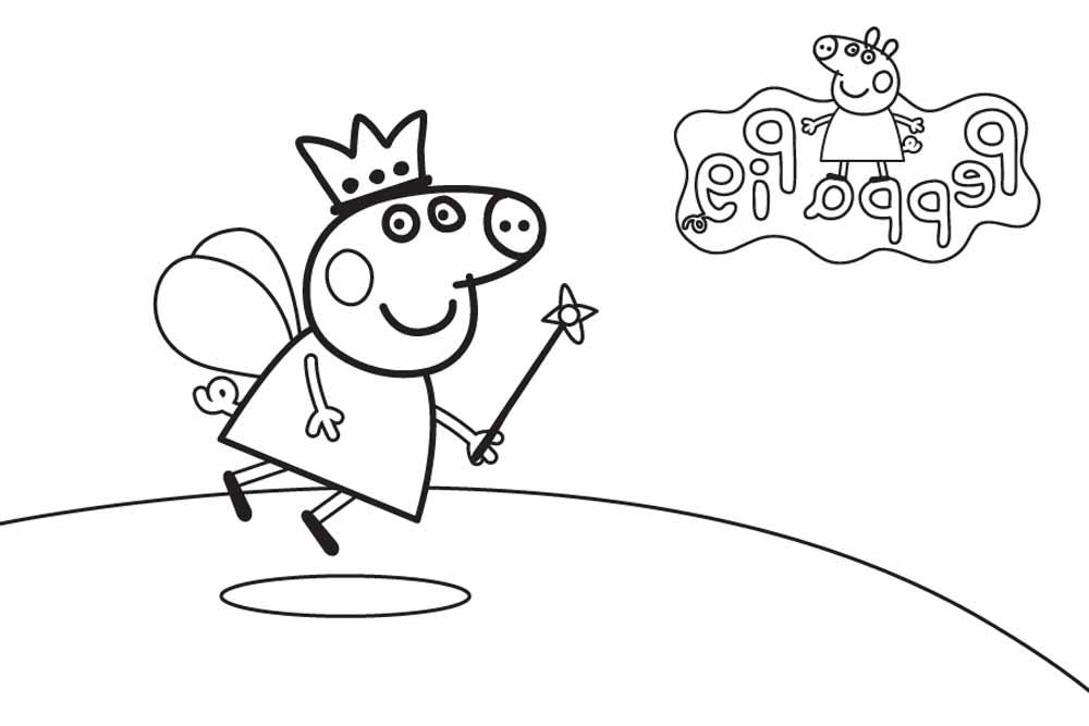 Hada De Peppa Pig Para Pintar Plantilla Gratis Dibujos De