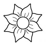 Imagen de Flor para Colorear y colocar en tu casa