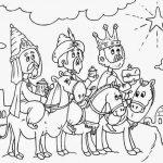 Imagen de los Tres Reyes magos siguiendo la estrella