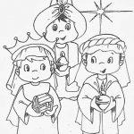 Imagen de los tres reyes magos con oro incienso y mirra