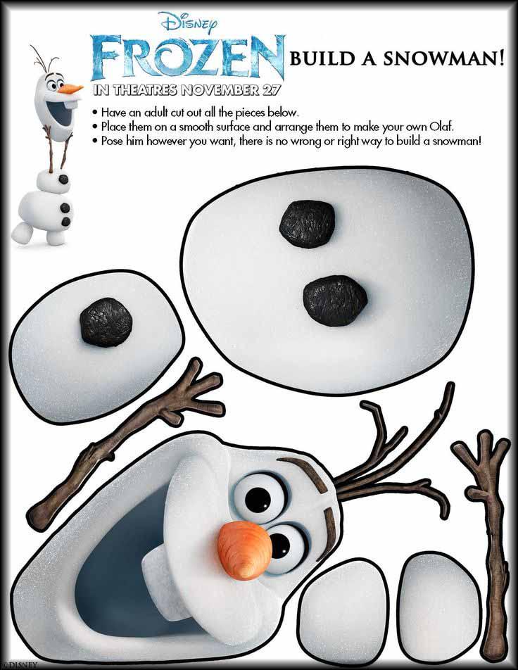Olaf Manualidad Frozen Disney- Frozen para colorear