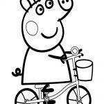 Peppa Cerda en bicicleta feliz