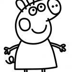 Peppa Pig con vestido Plantilla