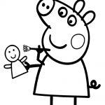 Peppa Pig jugando con su juguete