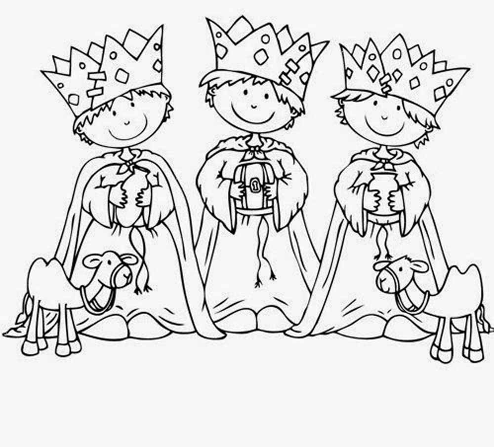 Reyes Magos Coloring Pages - Ultra Coloring Pages | 906x1000