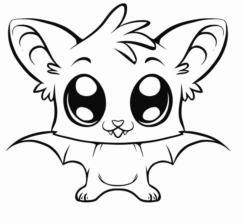 Imagen de Murcielago animal bebe para colorear   Dibujos De