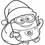 Minions navidad entrega regalos para colorear y pintar