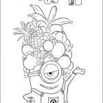 Misft minion con sombrero de frutas