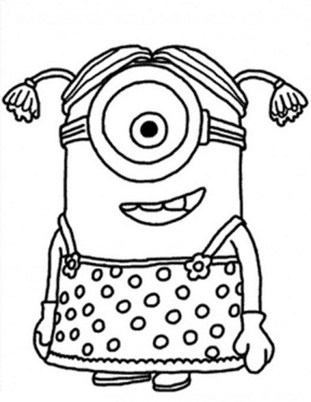 Im genes de minions para colorear dibujos de for Big girl coloring pages