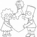 Bart Lisa Maggie los simpsons san valention