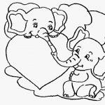 Elefates enamorados con corazon para el catorce de febrero dia de san valentin