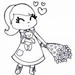 Enamorada con flores