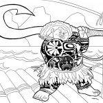 Maui personaje de poelicula de Moana de Disney