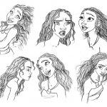 Rostro de Moana princesa de Disney