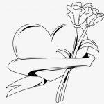 Corazon con flor rosa clavel para san valentin