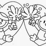 imagen de 14 de febrero enamorados novios en corazon con flores