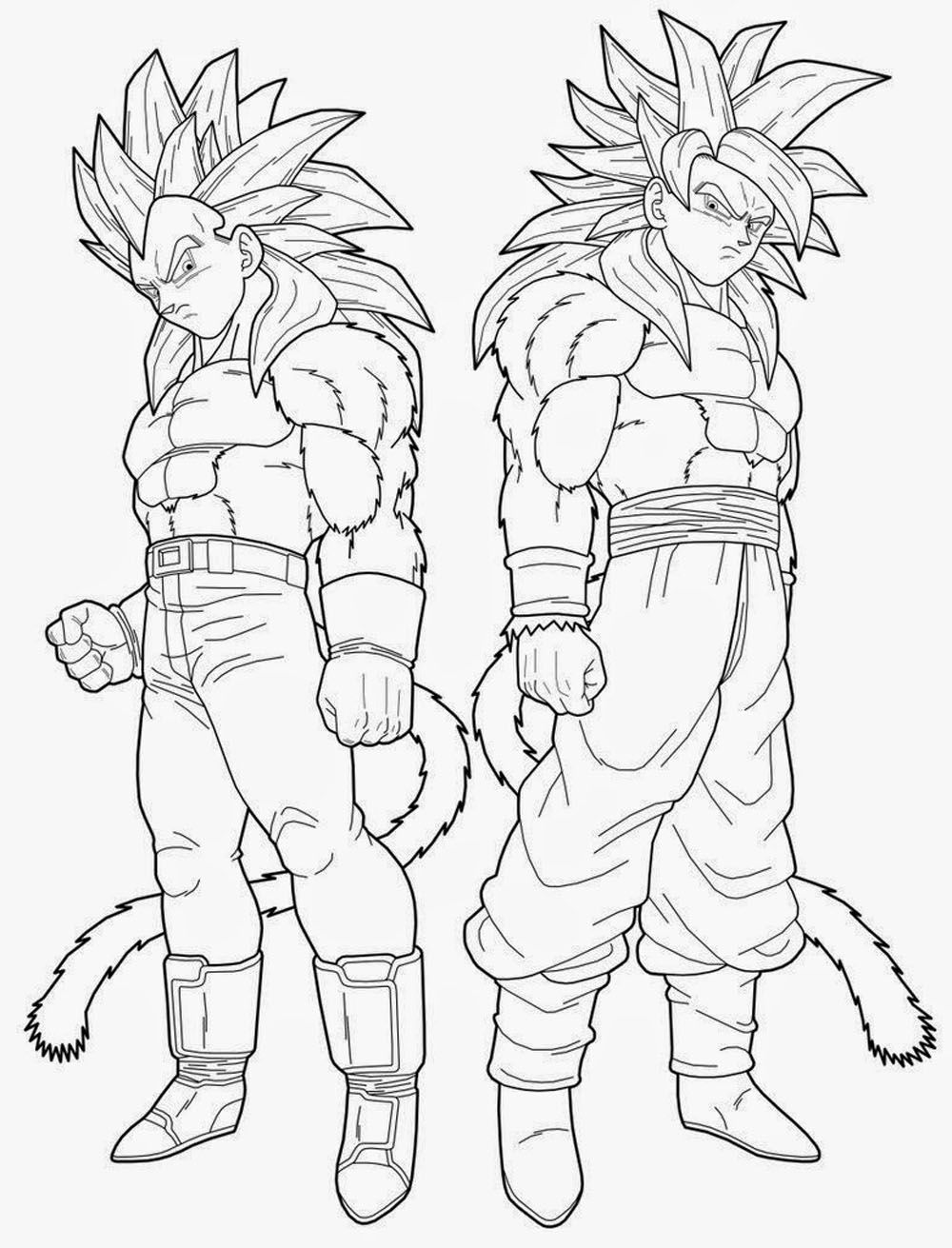 Imagen de goku para colorear dibujos de for Dragon ball z goku coloring pages